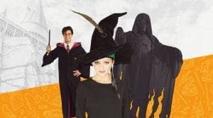 harry potter costumes collage