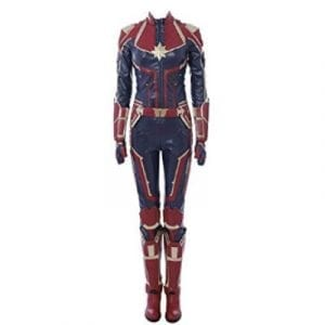 The front of Captain Marvel's costume