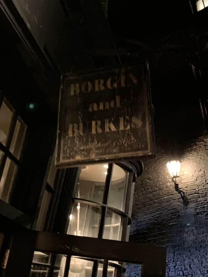 Borgin and Burkes universal studios tour