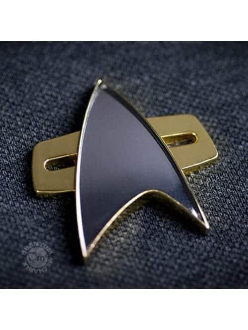 star trek voyager communicator badge