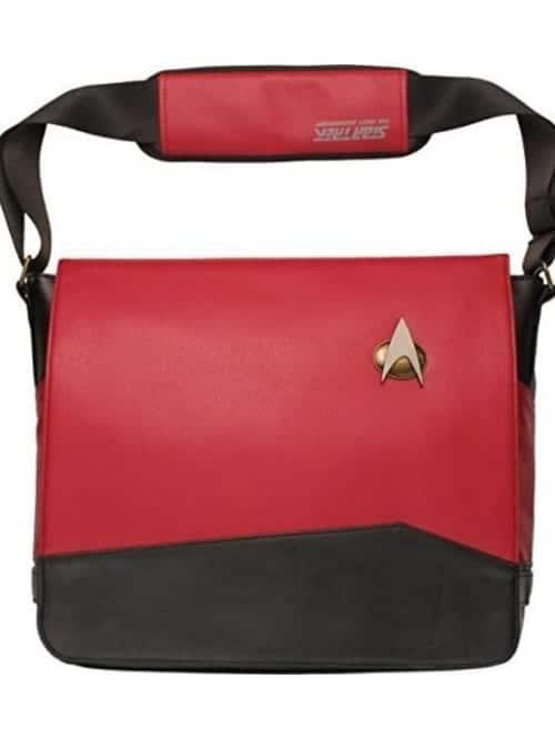 star trek red uniform messenger bag