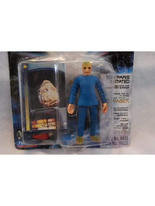 tom paris mutated action figure with space lizard babies star trek voyager