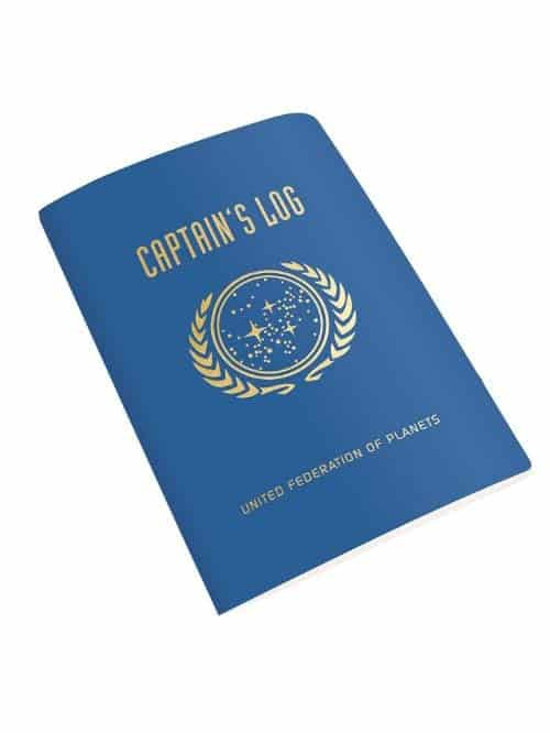 star trek captains log mini notebook