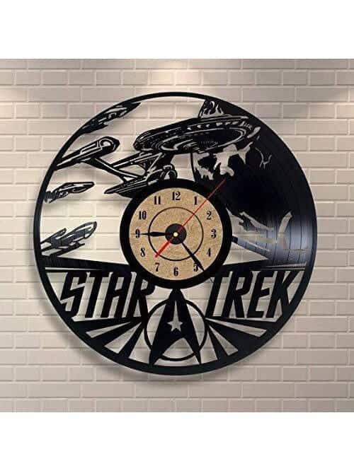 star trek vinyl record wall clock