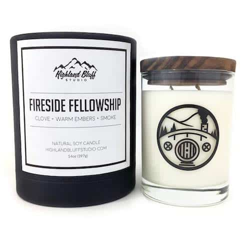 lotr fireside fellowship candle