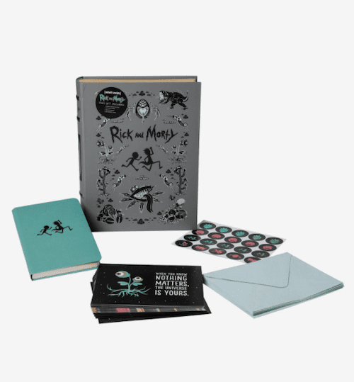 rick and morty note card set