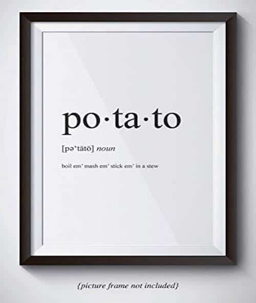 potato definition poster