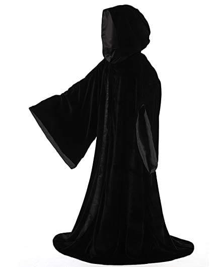 black velvety robe