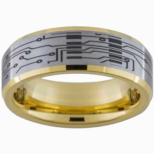 Computer Circuit engagement ring