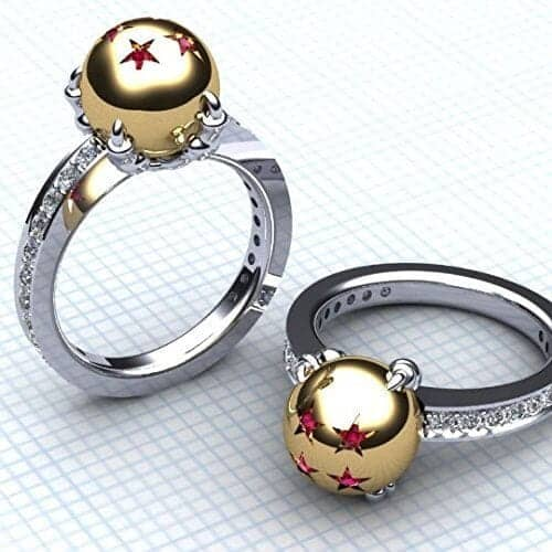Dragon Ball Z engagement Ring