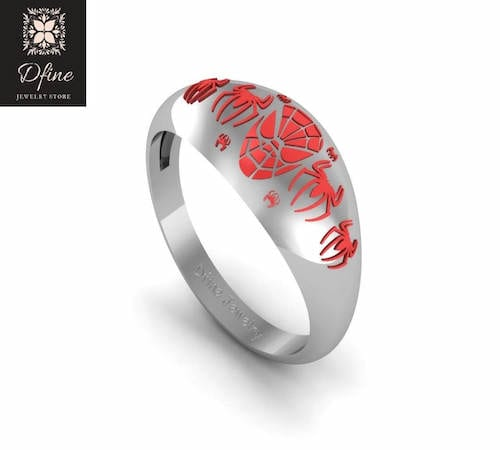 Spiderman engagement ring