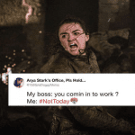 arya stark not today meme