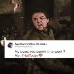 arya stark not today meme