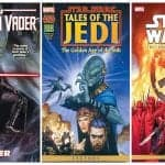 star wars comics collage