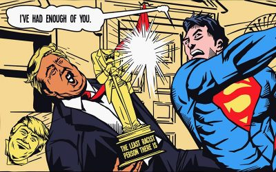 It's Time to Go, Donald! Superman Vs. Trump Comic