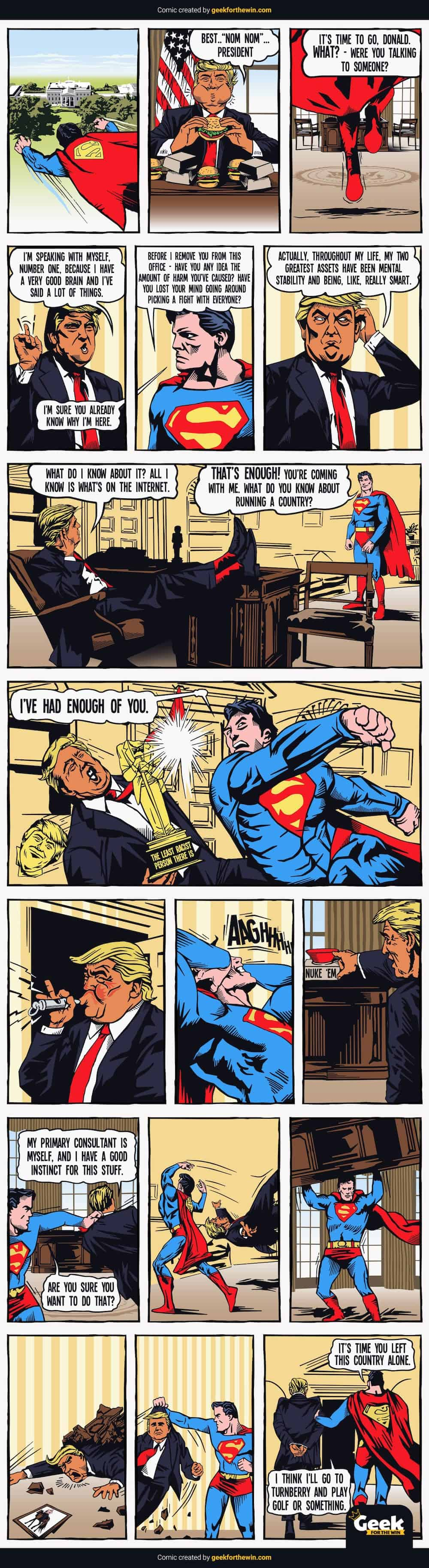 trump vs superman